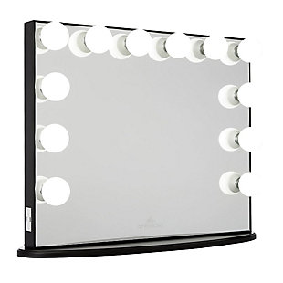 Impressions Vanity Vanity Mirror  with Clear LED Bulbs, Black, large