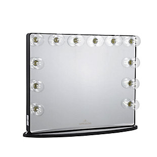 Impressions Vanity Vanity Mirror  with Clear LED Bulbs, Black, rollover