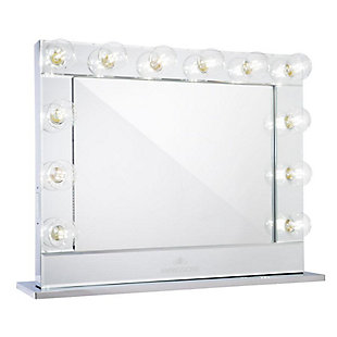 Impressions Vanity Vanity Mirror with Clear LED Bulbs, Mirrored, rollover