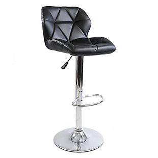 Impressions Vanity Geo Quilted Vanity Stool, , rollover