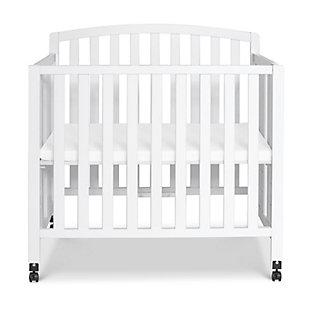 DaVinci Dylan Folding Portable 3-in-1 Mini Crib and Twin Bed, White, large