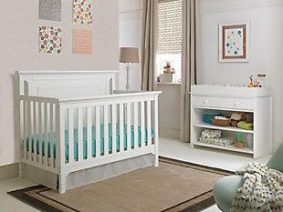 Ti Amo Royalton 4-in-1 Convertible Crib, White, rollover
