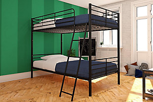 Atwater Living Jalan Twin over Twin Convertible Bunk Bed, Black, , rollover