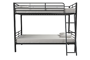 Atwater Living Jalan Twin over Twin Convertible Bunk Bed, Black, , large