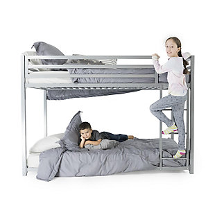 Atwater Living Mason Metal Twin over Twin Bunk Bed, White, White, large