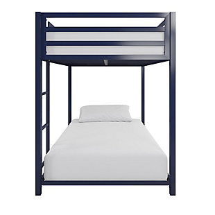 Atwater Living Mason  Metal Twin over Twin Bunk Bed, Blue, Blue, large