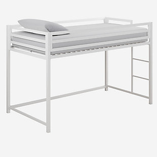 Atwater Living Mason Metal Junior Loft Bed, White, White, large