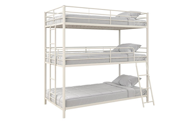 Atwater Living Callum Metal Triple Twin Bunk Bed Ashley Furniture Homestore