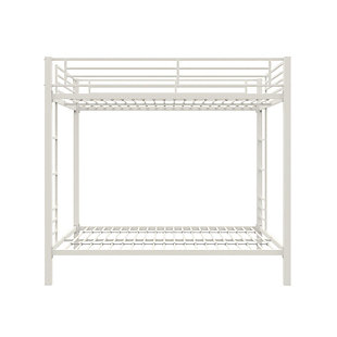 Atwater Living Parker Full over Full Metal Bunk Bed, White, White, large