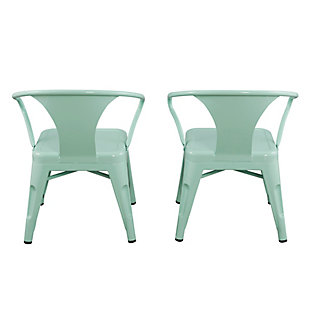 Ace Casual Kids Metal Activity Chair - 2 pack, Mint Green, Green, rollover