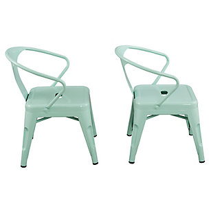 Ace Casual Kids Metal Activity Chair - 2 pack, Mint Green, Green, large