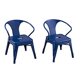 Ace Casual Kids Metal Activity Chair - 2 pack, Navy, Blue, large