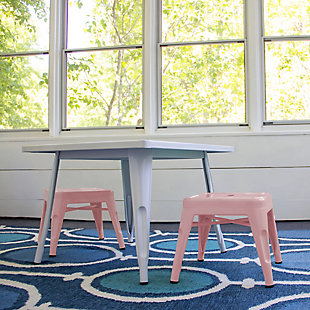Ace Casual Kids Metal Stool - 2 pack, Blush Pink, Pink, rollover