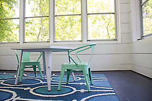 Ace Casual Kids Metal Activty Table, White, , rollover