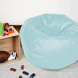 Ace Casual Medium Vinyl Bean Bag, Baby Blues, Light Blue, rollover