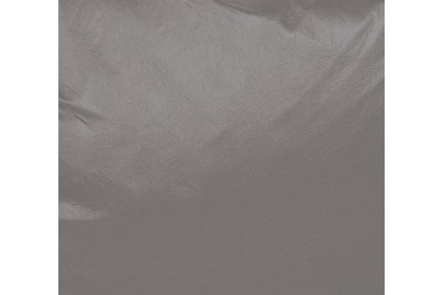 Ace Casual Medium Vinyl Bean Bag, Gray Fog, Gray, large
