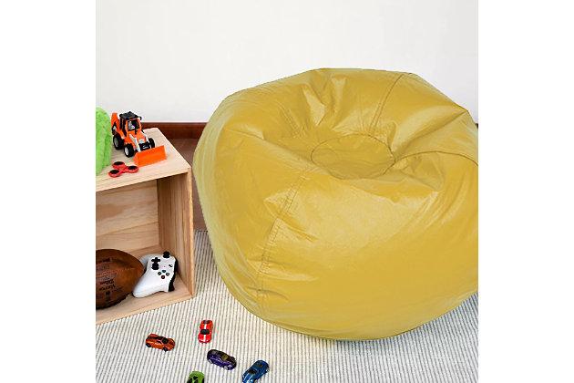 Ace Casual Medium Vinyl Bean Bag, Rich Honey, Yellow, large