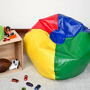 Ace Casual Medium Vinyl Bean Bag, Red, Blue, Green, and Yellow, , rollover