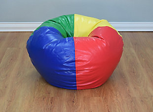 Ace Casual Large Vinyl Bean Bag, Red, Blue, Green, and Yellow, , rollover