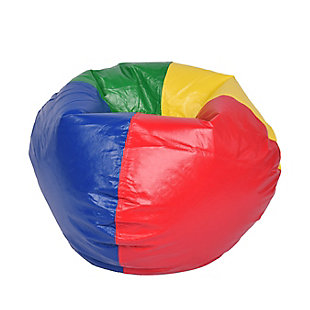 Ace Casual Large Vinyl Bean Bag, Red, Blue, Green, and Yellow, , large