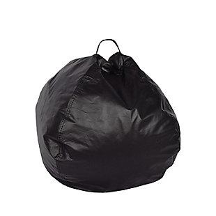 Ace Casual Large Vinyl Bean Bag, Black, Black, large