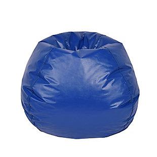 Ace Casual Large Vinyl Bean Bag, Blue, Blue, large