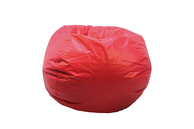 Ace Casual Large Vinyl Bean Bag, Red, Red, large