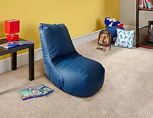 ACEssentials Video Bean Bag Ergonomic Chair, Blue, Blue, rollover