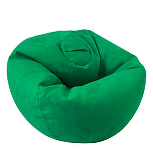 ACEssentials Large Micro Suede Bean Bag Chair, Kelly Green, Green, large