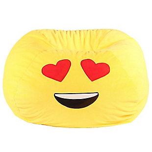 GoMoji Emoji Bean Bag Heart Eyes, , large