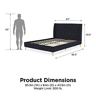 Her Majesty  Queen Bed, Blue, large