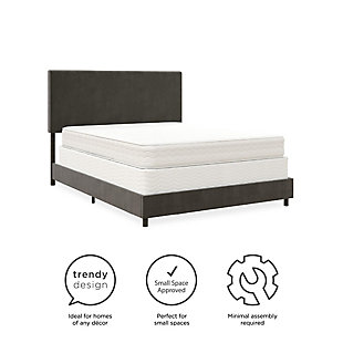 Z by Taylor Queen Upholstered Bed, Gray, large