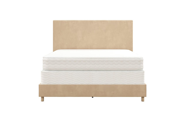 Z by Taylor Full Upholstered Bed, Ivory, large