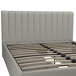 Brittany  Queen Upholstered Bed with Storage Drawers, Gray, large
