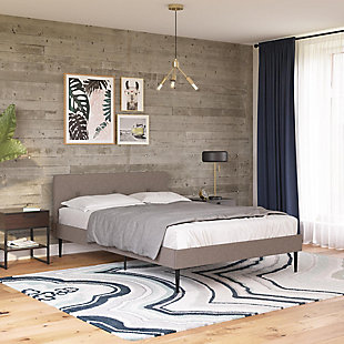 Freddy  Queen Upholstered Bed, Gray, rollover