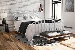Dorel Home Products Bushwick Metal Bed Underbed Storage, , rollover