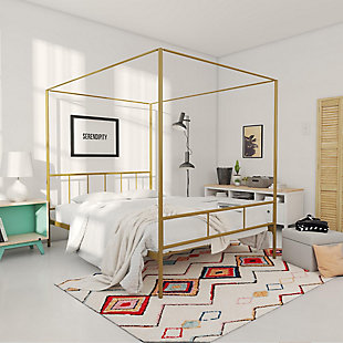 Dorel Home Products Marion Canopy Bed Full, Gold, rollover