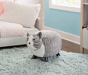 Powell Scout Tabby Cat Stool, , rollover