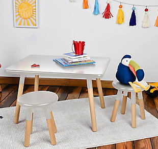 ACEssentials Kids Dipped Table and Stool Set, , rollover