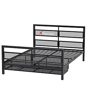 ACEssentials X Rocker Basecamp Gaming Bed Frame with Storage, Black, large