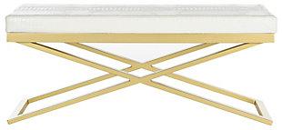 Acra Bench, White/Gold, large