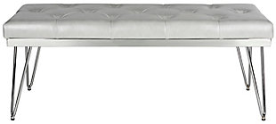 Marcella Bench, Gray/Chrome, large