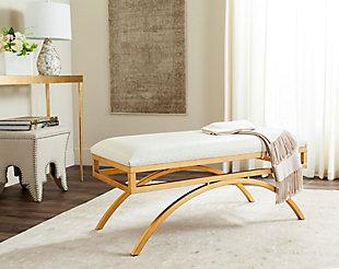 Moon Arc Bench, Cream/Gold, rollover