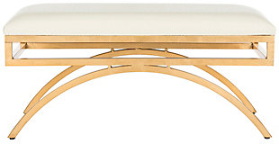 Moon Arc Bench, Cream/Gold, large