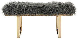 Maia Faux Lamb Bench, , large