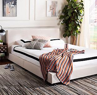 Carter Full Bed, Light Beige, rollover