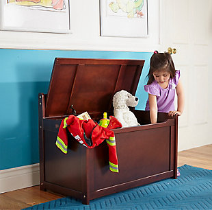 Melissa & Doug  Wooden Toy Chest, , rollover
