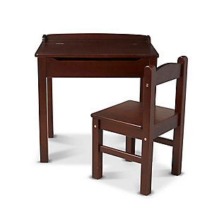 Melissa & Doug  Wooden Lift-Top Desk and Chair, Espresso, large