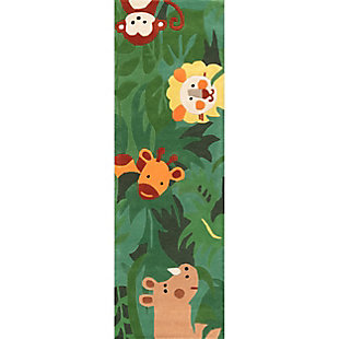 nuLOOM Hand Tufted King of the Jungle Rug, Green, large