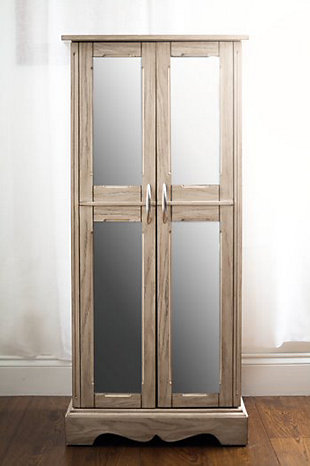 Chelsea Jewelry Armoire, Gray, rollover